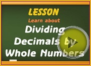 Dividing Decimals by Whole Numbers video