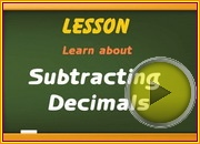 Subtracting Decimals video