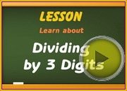 Dividing by 3 Digits video