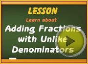 Adding Fractions with Unlike Denominators video