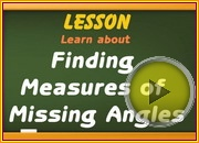 Finding Measures Missing Angles video