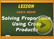 Solving proportions using cross products video