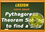 Pythagorean Theory Solving for a Side video