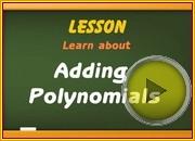 Adding Polynomials video