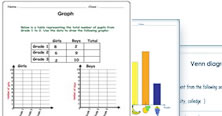 2nd grade data and graphs worksheets - PDF printable activities