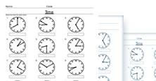 2nd grade math time worksheets - PDF
