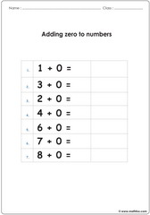 Adding zero to other numbers