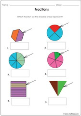 Fractions circles squares