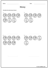 Penny dime addition worksheet