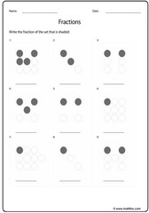 Fractions of dots
