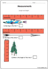 Measurements using a ruler
