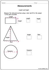 Measurements of shapes