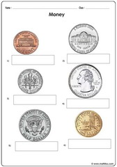 Money coins usd