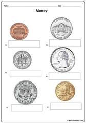 Money coins usd