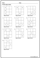 Addition magic square exercise
