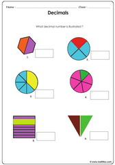 Illustrated decimal exercise