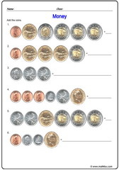 Money Canada 3 addition of coins