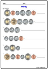 Money Canada 4 addition of coins