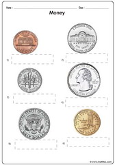 Money coins usd addition of coins