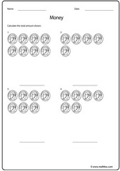 Money dime usd addition of coins