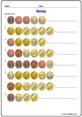 Money euro2 addition of coins