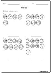 Money nickel and dime US dollars