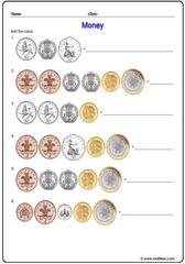 Money pounds UK sheet 2