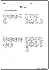 Money quarter dime nickel penny