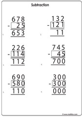 Subtraction find missing number