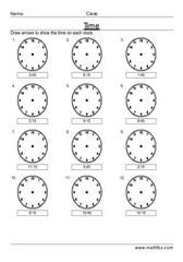 Time electronic clocks 15 mins