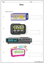 Time electronic clocks