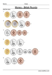 Add coins British Pounds