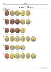 Add coins euros