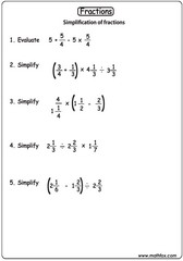 Fractions simplification