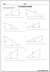 Triangle sides pythagorean theorem 3