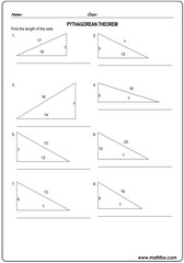 Triangle sides pythagorean theorem 4