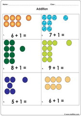 add 1 to other numbers 6 to 10 with dots