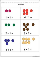 add 1 to other numbers up to 6 with dots