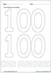 Number 100 Worksheet