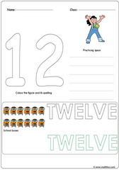 Number 12 Worksheet