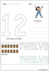 Number 12 Worksheet