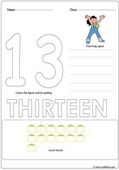 Number 13 Worksheet