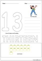 Number 13 Worksheet