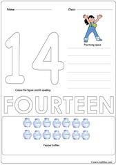 Number 14 Worksheet