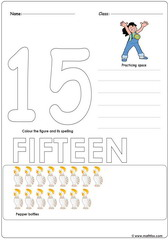 Number 15 Worksheet