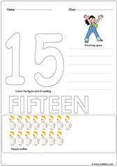 Number 15 Worksheet