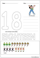 Number 18 Worksheet