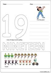 Number 19 Worksheet