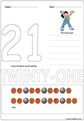 Number 21 Worksheet