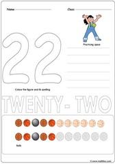 Number 22 Worksheet